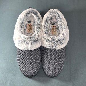 Skechers BOBs Knit Faux Fur Charcoal Clog